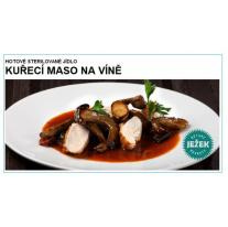 Kuřecí maso na víně