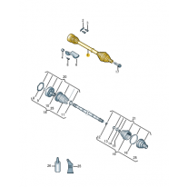 Kloubovy hridel se synchron- ŠKODA (originál)