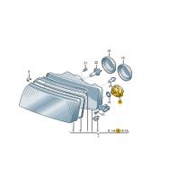 Motor pro nastav.dosahu světel ŠKODA (originál)