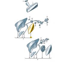 Sklo zrcatka (asfericke-siro- ŠKODA (originál)
