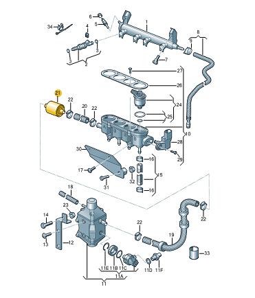 Filtr pro zkapalneny plyn ŠKODA (originál)